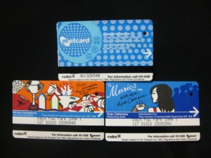Metcards in various themes